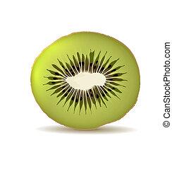 Organic kiwi isolated on white
