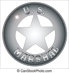 US Marshal Badge - A typical US Marshall badge from the wild...