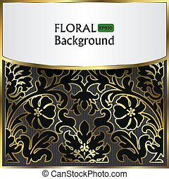 background with a gold flower pattern