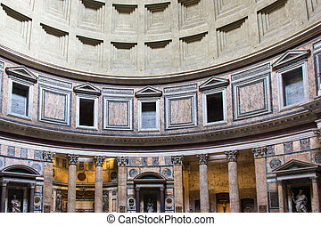 Rome, inside the Pantheon - the Pantheon in Rome was built...