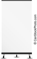 Roll Up Banner - Blank roll up banner on white background,...