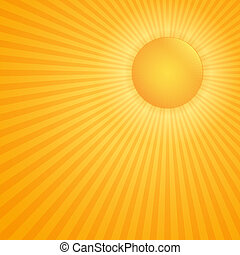 Sun - Bright hot sun, vector eps10 illustration