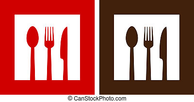 two restaurant signs