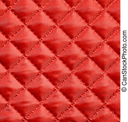 Quilted fabric - Red silk quilted fabric for background