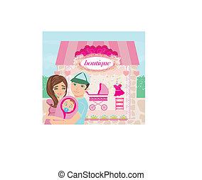 shopping for little girl