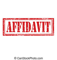 Affidavit-stamp - Grunge rubber stamp with word...