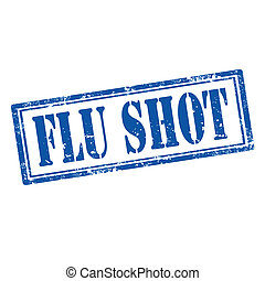 Flu Shot-stamp - Grunge rubber stamp with text Flu...