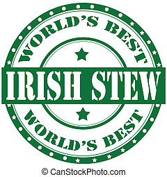 Irish Stew-label - Label with text Irish Stew,vector...
