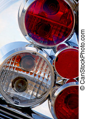 taillight - A close up of car tail light