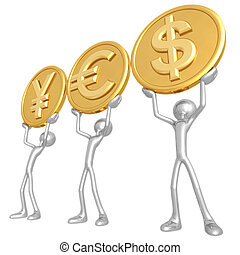 YES Currency - 3D Concept And Presentation Figure