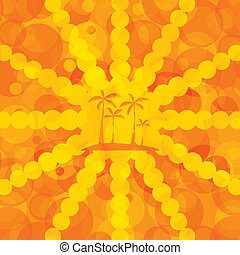 Orange summer background