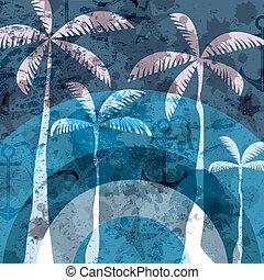 Blue grunge summer background