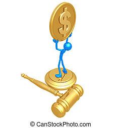 Large Court Settlement - 3D Concept And Presentation Figure