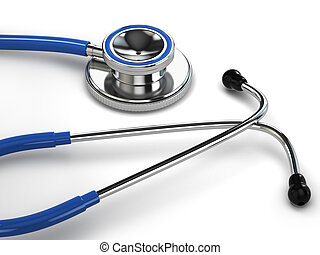 Stethoscope on white isolated background 3d