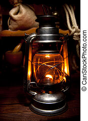 Oil Lamp - Antique Oil Lamp Lighting up the Darkness