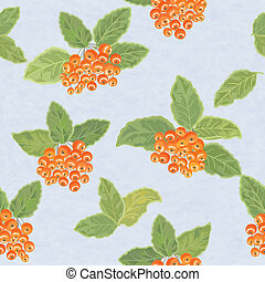 Seamless vector pattern with rowan