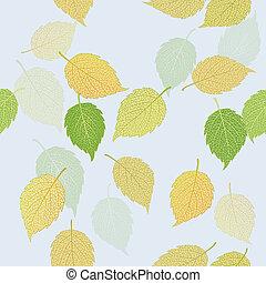 Seamless illustration of leaves - Seamless illustration of...