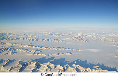 Greenland - Aerial view on Greenland