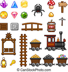 Mine assets 2 - Set of mine assets for game.