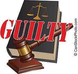 Guilty Verdict - Illustration of a design representing a...
