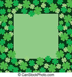 Four Leaf Clover or Shamrock Frame