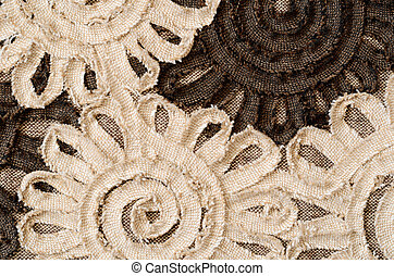 Large flowers of the tape - Background with large brown and...