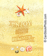 quot;Enjoy Your Summerquot; Sandy Background - Enjoy Your...