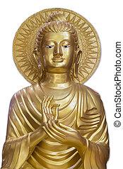 Buddha statue - Gangaramaya Temple in Colombo, Sri Lanka