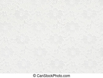 White lace background - White lace with small flowers on the...