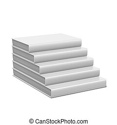 book stair with blank cover