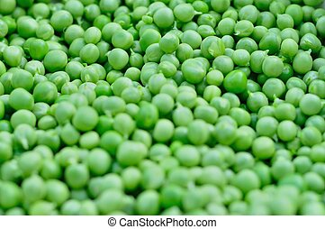 Green peas background - Background of fresh green peas