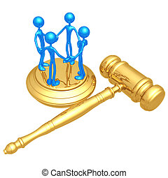 Class Action Law - 3D Concept And Presentation Figure