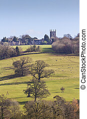 Stowe on the Wold - View across fields to Stowe on the Wold,...