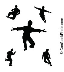 dance men templates - men of dance in silhouette