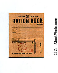1944-45 Wartime Ration Book - A vintage wartime rationing...