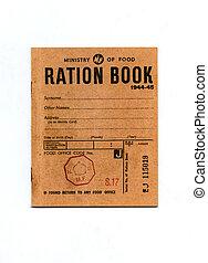 1944-45, tiempo de guerra, ración, libro