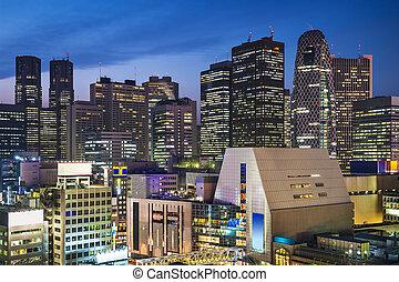 Shinjuku, Tokyo - Tokyo, Japan at the Shinjuku skyscraper...