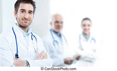 Medical Teamwork - Professional doctor at hospital with...