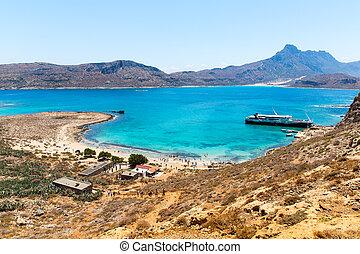Gramvousa island near Crete, Greece. Balos beach. Magical...