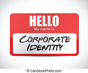 corporate identity name tag illustration design over a white...