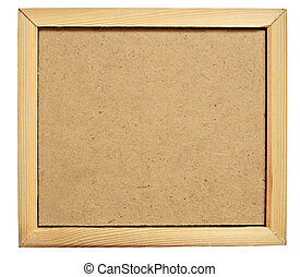 Hardboard in a frame - Hardboard background in a wooden...