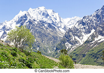 Caucasus rockies in Russia - Scenery of rockies in Caucasus...