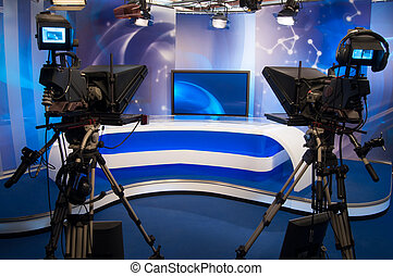Television Studio - TV professional digital video camera -...