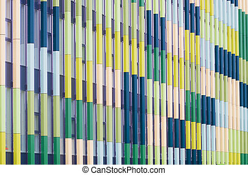 architectural background - facade of a modern school...
