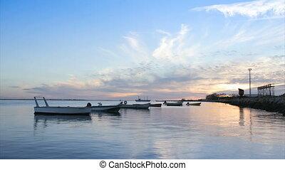 Ria Formosa-Olhao. Algarve Portugal - Timelapse in Olh?o da...