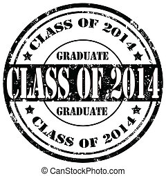 Class Of 2014-stamp - Grunge rubber stamp with text Class Of...
