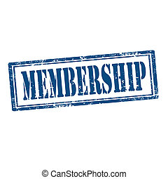Membership-stamp - Grunge rubber stamp with text...