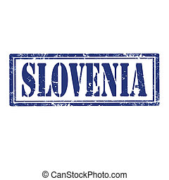 Slovenia-stamp - Grunge rubber stamp with word...