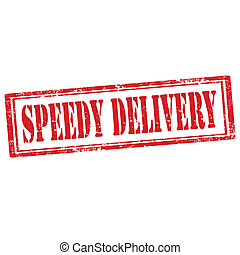 Speedy Delivery-stamp - Grunge rubber stamp with text Speedy...