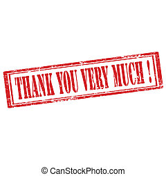 Thank You Very Much-stamp - Grunge rubber stamp with text...